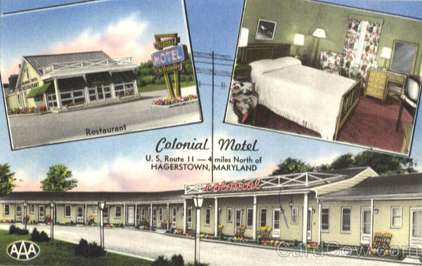 Colonial Motel and Restaurant, U.S. Route 11- 4 miles North Hagerstown Maryland