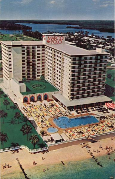 Miami Beach's Newest Lifters' Marco Polo, Resort Motel on the ocean at 192nd Street Florida