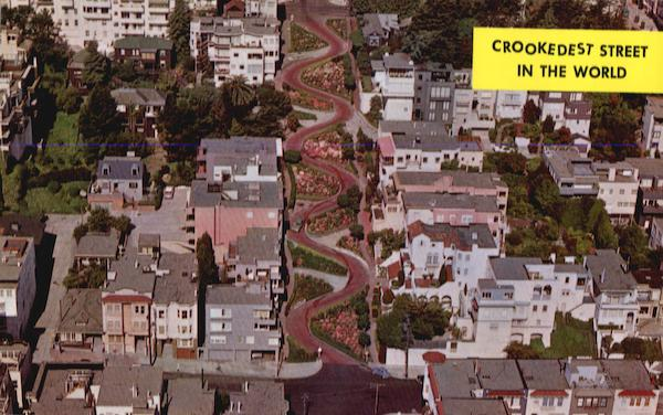 Crookedest Street in the World - Lombard St. San Francisco California
