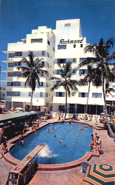 The New Richmond Hotel, Directly on the Ocean at 18th Street Miami Beach Florida