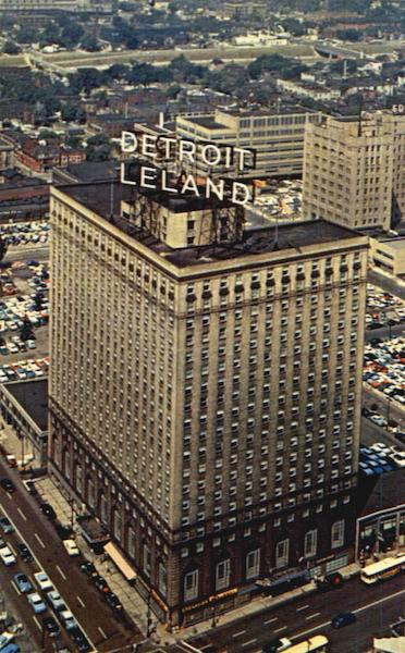 Detroit - Leland Hotel, Cass Avenue at Bagley in Downtown Michigan