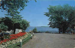Beautiful Bell Park overlocking Lake Ramsey Postcard
