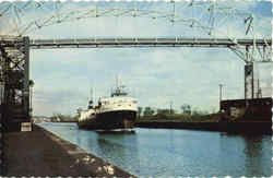 A large lake freighter Postcard