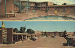 Town House Motel, On U.S. Highway 66 … 6 Blocks from Highway 54 Postcard
