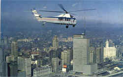Chicago Helicopter Airways Postcard