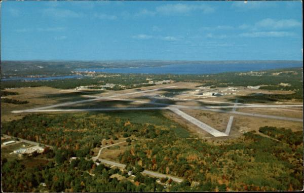 Aerial View of the Cherry Capitol Airport Traverse City Michigan