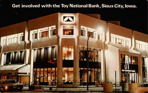 Get involved with the Toy National Bank Sioux City Iowa