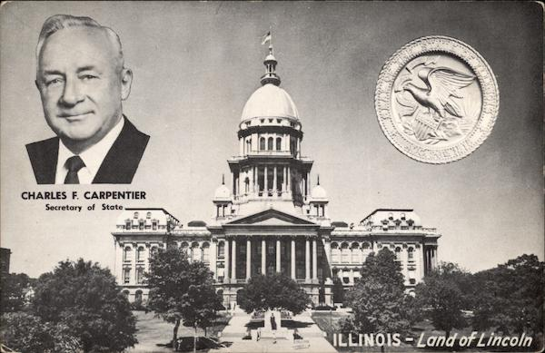 Illinois Capital Building - Charles F. Carpentier, Secretary of State