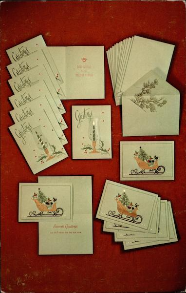 Here's Cheers--Original Holiday Greeting Cards Advertising