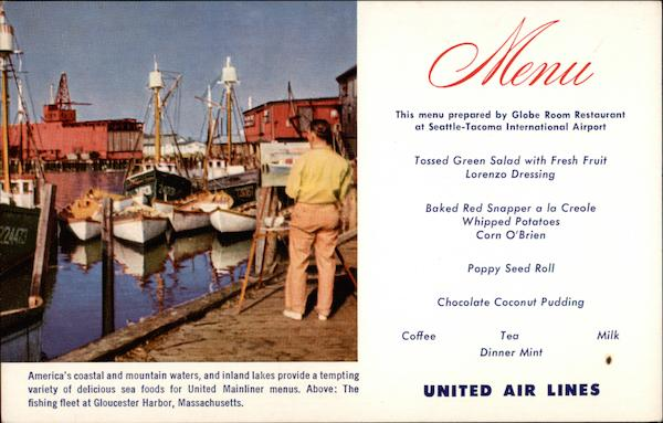 United Air Lines' Mainliner Cuisine Aircraft
