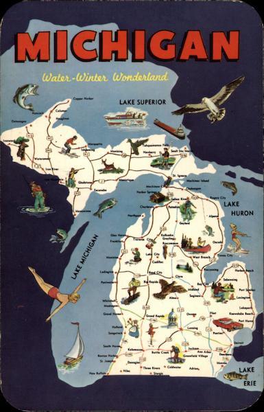 Water Winter Wonderland Michigan Maps