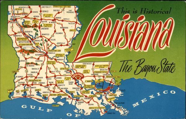 Louisiana QuotThe Bayou Statequot Maps