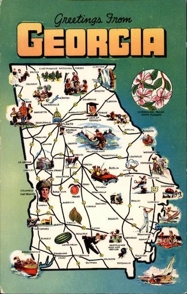 Greetings From Georgia Maps