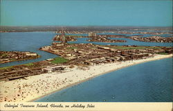 Colorful Treasure Island, Florida on Holiday Isles Postcard