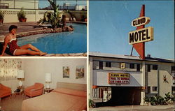 Cloud Motel Entrance, Pool and Room