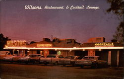 Wilsons Restaurant & Cocktail Lounge Postcard