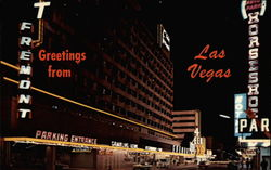 Fremont Hotel - Greeting from Las Vegas Postcard