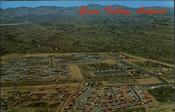Aerial View of Green Valley Postcard