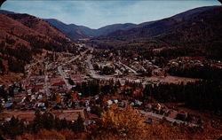 Aerial View of Mullan, Idaho Postcard