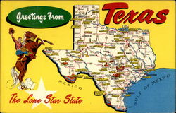 "Greetings from Texas - ""The Lone Star State"""
