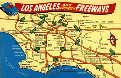 Los Angeles and Vicinity Freeways Postcard
