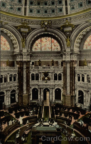 Public Reading Room, Library of Congress Washington District of Columbia
