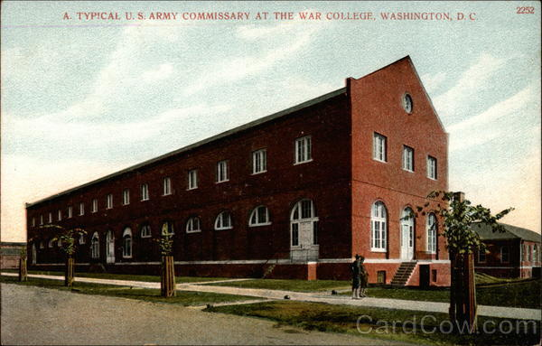 A typical U.S. Army Commissary at the War College Washington District of Columbia
