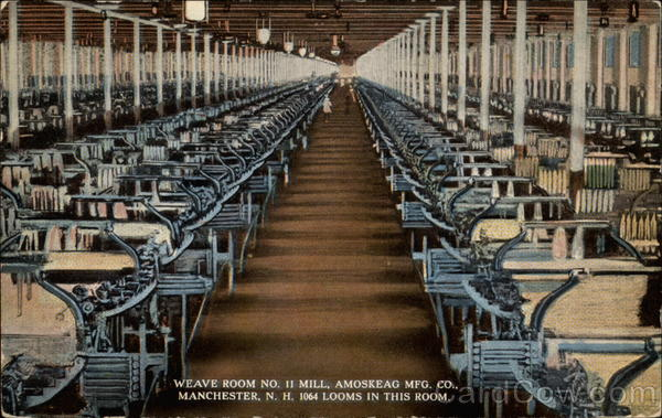 Weave Room No. 11 Mill, Amoskeag Mfg. Co Manchester New Hampshire