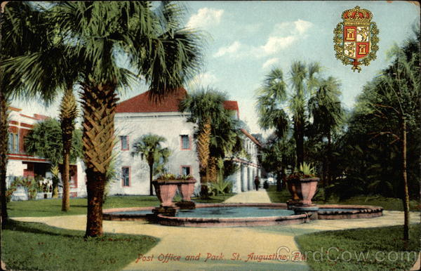Post Office and Park St St. Augustine Florida