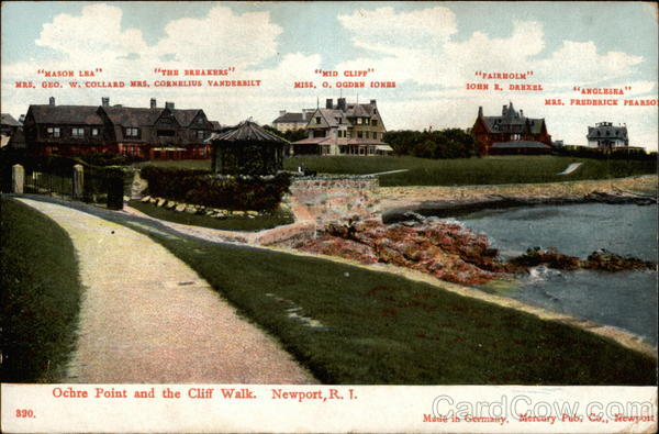 Ochre Point and the Cliff Walk Newport Rhode Island