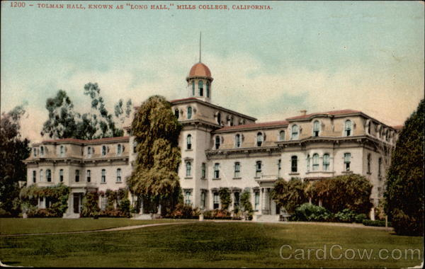 Tolman Hall, Known as Long Hall Mills College California