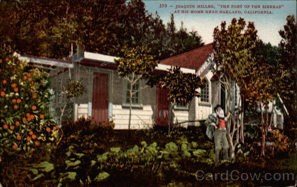 Joaquin Miller, The Poet of the Sierras, at his home Oakland California