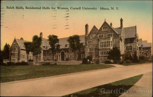 Balch Halls, Residential Halls for Women, Cornell University Ithaca New York