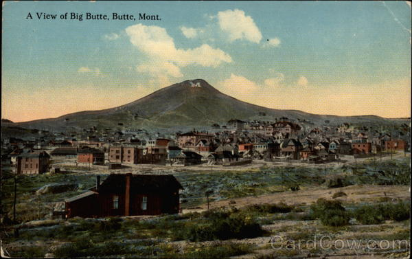 A view of Big Butte Montana