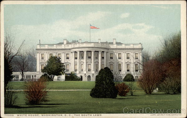 White House, The South Lawn Washington District of Columbia
