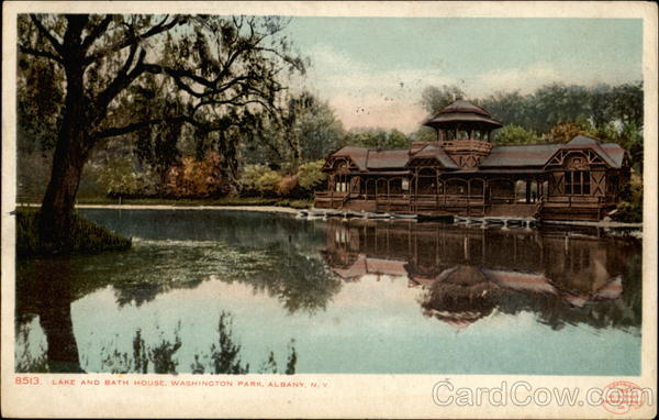 Lake and Bath House, Washington Park Albany New York