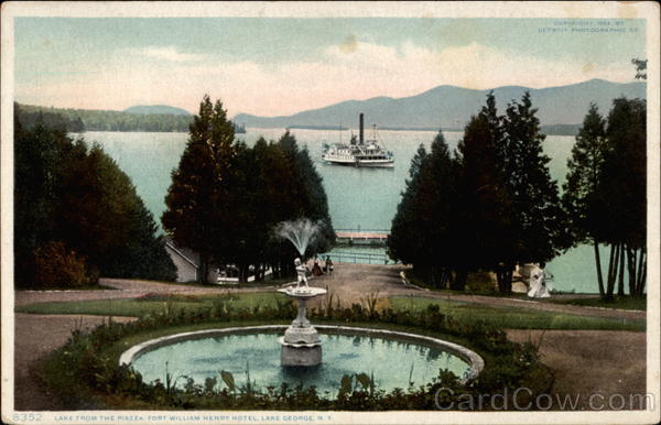 Lake from the Piazza, Fort William Henry Hotel Lake George New York