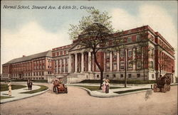 Normal School, Steward Ave. & 68th St Postcard