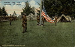 Retreat. Camp Lewis, American Lake, Wash