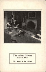 The Alcott House, Mr. Alcott in the Library