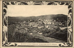 Bird's-eye View of Virginia City, Mont