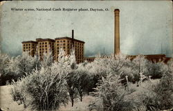 Winter scene, National Cash Register plant