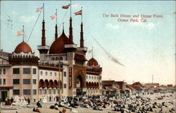 The Bath House and Ocean Front Postcard