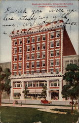Chicago Musical College Building, Ziegfeld Hall Postcard