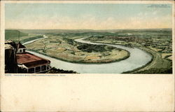 Mocassin Bend from Lookout Mountain Postcard