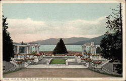 Lake George from Fort William Henry Hotel Postcard