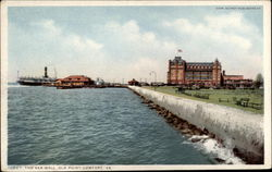 The Sea Wall Postcard