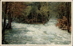 Merced River and Happy Isles Postcard
