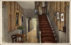 The Front Hall, Longfellow's Old Home Postcard