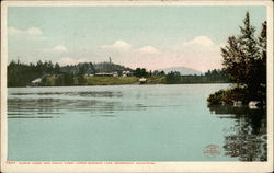 Rustic Lodge and Indian Carry, Upper Saranac Lake, Adirondack Mountains